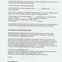 Bradshaw Isherwood Estate Papers