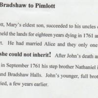 Bradshaw to Pimlott to Isherwood.