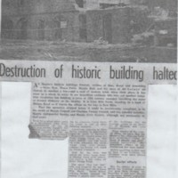 Newspaper cutting from 1964 relation to the  Lime Kilns