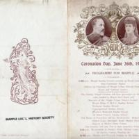 Programme for Marple : Coronation Day 1902
