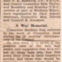 Newspaper Article reporting on Brabyns Hall public opening : 1945