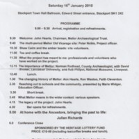 Programme for Celebration Conference : 2010