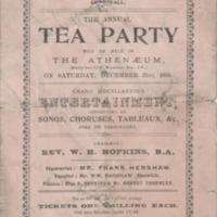 Tea Party at Athenaeum  : 1898