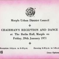 Ticket for Marple U.D.C. Chairman's Reception and Dance : 1971