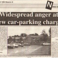Newspaper cuttings relating to Car Parks in and around Marple