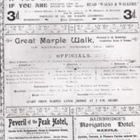 Newspaper / magazine cuttings relating to walks around Marple