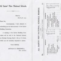 All Saints National School : 1904 : Final Accounts