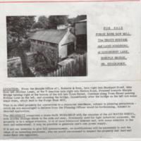 Estate Agents Brochures for Forge Bank Mill : Various Dates