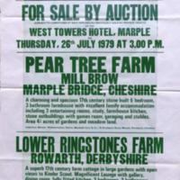 Poster from Burlings Estate Agents : Auction of Properties : 1979
