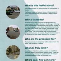 Leaflet on Latest Proposal for Improvement in Marple : 2004