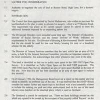 Marple Area Committee Meeting : Sale of Land at Buxton Road : 1993
