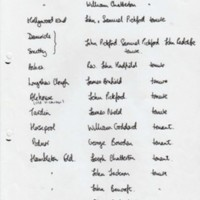 List of Resident  1686 and surround properties 1761
