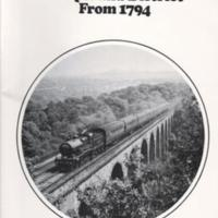 Booklet ; Railways of Marple & District from 1794 : W R Burton : 1980