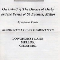 Material on Sale of Parish Field : 1999