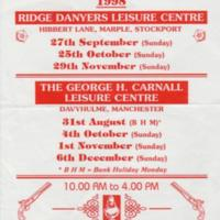 Flyer for Antique & Collectors Fair at Ridge Danyers :1998