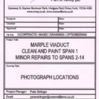 Repairs / Renovation Plan to Marple Viaduct : 2000's
