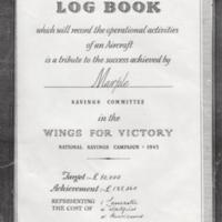 Front cover Saving Committee Log Book : Wings for Victory :1943