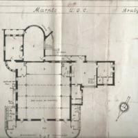 Drawing Plans for Assembly Hall at Brabyns Hall  : 1949