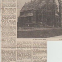 Various Newspaper Articles Relating to All Saints Church
