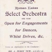 Leaflet : Roman Lakes Select Orchestra : Undated