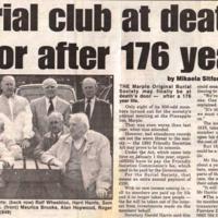 Material on dissolution of Marple Original Burial Society : 1994/6