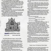 """Extract from Mr Thelwalls Book """"The Andrews Compstall & their Mill"""" re non-conformity at Compstall"""