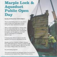 Flyers for Events : Marple Lock Open Day &amp; Oldknow Roadshow : 2014 &amp; 2015<br /><br />