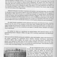 The Poynton Historian Booklet : Article on Nathaniel Wright : Poynton Entrepreneur : 2004