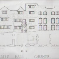 Measured Drawings of Marple Hall from National Monuments Records Centre.