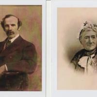Photographs of Portraits &  Plaques :  Mr & Mrs Carver