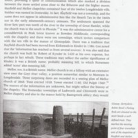Extracts from The English Parish : Early History of Peak District