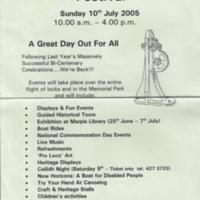 Marple Locks Festival Poster : 2005