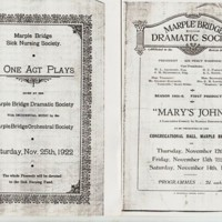 Programmes for Dramatic Society Performances : 1922 & !925