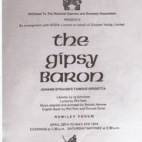 Material on Marple Operatic Society from : 1974