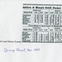 Ashton & Marple Swift Packet Boats timetable