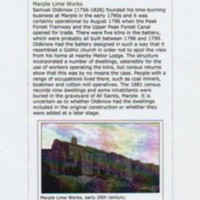 Article on Lime Works, Mineral Mill & Brick works: Pittdixon 2012