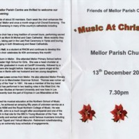 Friends of Mellor Parish Centre : Music at Christmas 2008