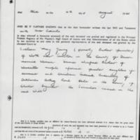 Probate for Mary Barlow of Woodville  : Died 1941