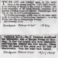 Newspaper Articles relating to Farms & Farming