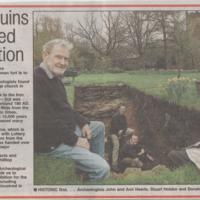 Newspaper/Magazine articles relating to the Mellor Hillfort Archaeological Dig.