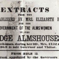 Poster : Extracts from Bridge Almshouses Rules