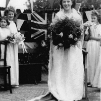 Newspaper article 1948 re crowning of Rose Queen of Jubilee Sunday School, Compstall
