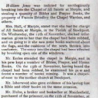 Chester Assizes : Trial of Marple Men : 1824 : Marple Parish Magazine Extract