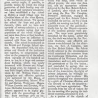 Extract from JRULM  W.A. Magazine  :  Opening of New Chapel in Mellor 1845