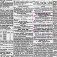 Auctions Notices from Newspaper cuttings : 1851 - 1859