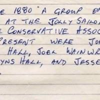 Formation of Marple Conservative Association : 1880