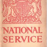 Booklet : National Service : 1939
