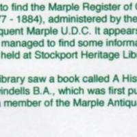Marple Register of Canal Boats : Correspondence with C Jones 2012