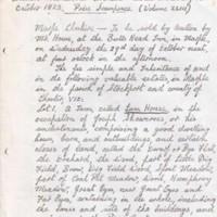 Sale of Farm/Estate & Valuable timber in Marple in 1823