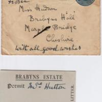 Brabyns Estate Permit & Envelope